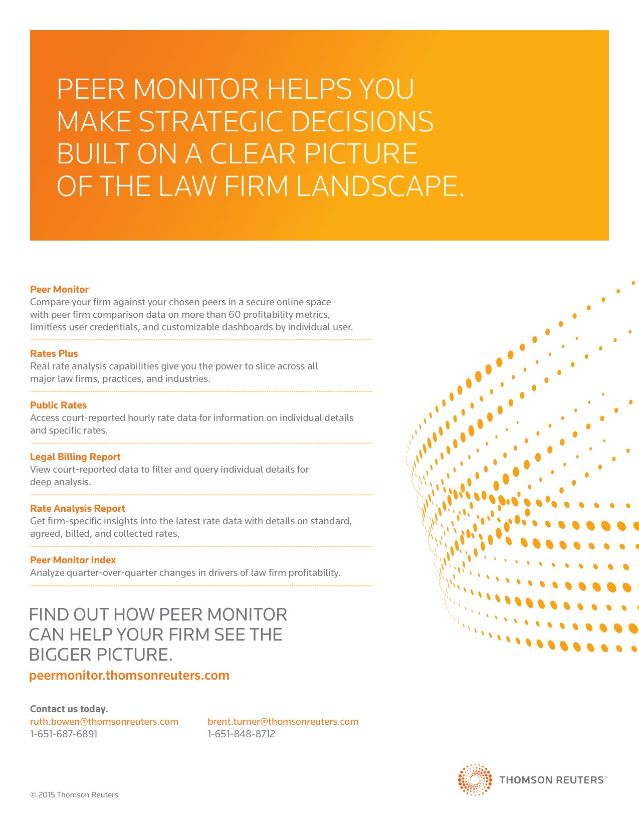 Thomson Reuters Peer Monitor Sell Sheet - Dale Gregory Anderson